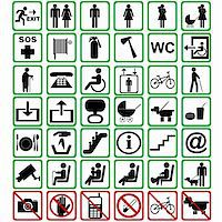 International signs used in transportation means Stock Photo - Royalty-Freenull, Code: 400-06173684