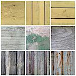 Collection of old wooden planks texture. Vintage background for design