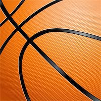 Orange Basketball close up illustration for design Stock Photo - Royalty-Freenull, Code: 400-06173922