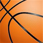 Orange Basketball close up illustration for design Stock Photo - Royalty-Free, Artist: dvarg                         , Code: 400-06173922