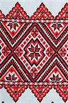 part of embroidered good by cross-stitch pattern Stock Photo - Royalty-Free, Artist: mycola                        , Code: 400-06174813