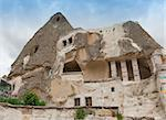 Fairy Chimneys - Cave houses in Cappadocia Stock Photo - Royalty-Free, Artist: lindom                        , Code: 400-06176416