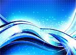 Stylish abstract wave flow background with lots of blurry particles   Stock Photo - Royalty-Free, Artist: CarpathianPrince              , Code: 400-06177870