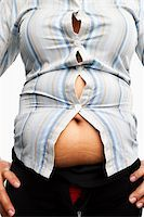 Tight shirt on overweight female body, taken close up Stock Photo - Royalty-Freenull, Code: 400-06178010