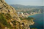 View of Calpe while hiking up the Ifach mountain Stock Photo - Royalty-Free, Artist: hemeroskopion                 , Code: 400-06178154