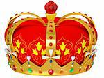 Royal gold crown isolated on a white background  Stock Photo - Royalty-Free, Artist: nikolaich                     , Code: 400-06179626