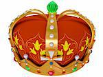 Royal gold crown isolated on a white background  Stock Photo - Royalty-Free, Artist: nikolaich                     , Code: 400-06179681
