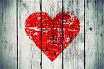 love symbol on old wooden wall background Stock Photo - Royalty-Free, Artist: didesign                      , Code: 400-06180046
