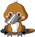 Fun zoo. Illustration of cute Platypus