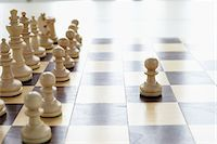 strategy - Chessboard and Chess Pieces Stock Photo - Premium Royalty-Freenull, Code: 600-06180177