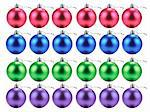Lots of Christmas baubles in rows Stock Photo - Premium Royalty-Freenull, Code: 659-06184201
