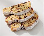 Three slices of stollen Stock Photo - Premium Royalty-Free, Artist: foodanddrinkphotos, Code: 659-06184269