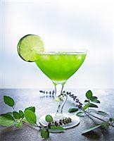 Kiwi margarita with lime Stock Photo - Premium Royalty-Freenull, Code: 659-06184618