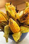 Grilled corn cobs with chilli Stock Photo - Premium Royalty-Freenull, Code: 659-06184645