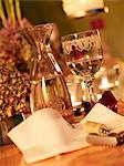 A festively decorated table with white wine Stock Photo - Premium Royalty-Free, Artist: Jodi Pudge, Code: 659-06184750
