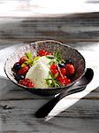 Lemon verbena cream with berries Stock Photo - Premium Royalty-Free, Artist: R. Ian Lloyd, Code: 659-06184813