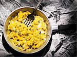 Scrambled egg in a small frying pan Stock Photo - Premium Royalty-Freenull, Code: 659-06185530