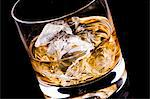 A glass of whisky with ice cubes Stock Photo - Premium Royalty-Free, Artist: Photocuisine, Code: 659-06185746