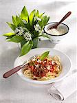 Spaghetti Bolognese with ramsons Stock Photo - Premium Royalty-Free, Artist: CulturaRM, Code: 659-06185947