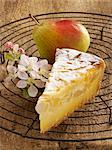 A slice of quark and pear tart Stock Photo - Premium Royalty-Free, Artist: Photocuisine, Code: 659-06185962
