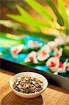 Gen Mai Cha Loose Green Tea on Bamboo Tray Stock Photo - Premium Royalty-Freenull, Code: 659-06185992