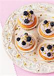 Cupcakeswith blueberry and mascarpone cream Stock Photo - Premium Royalty-Free, Artist: Photocuisine, Code: 659-06186073