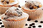 Chocolate chip muffins (close-up) Stock Photo - Premium Royalty-Free, Artist: Photocuisine, Code: 659-06186085