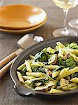 Penne with Broccoli and Mushrooms Tossed with Pesto Stock Photo - Premium Royalty-Free, Artist: Photocuisine, Code: 659-06186605