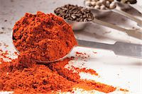 paprika - Measuring spoons with spices Stock Photo - Premium Royalty-Freenull, Code: 659-06186668