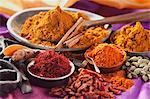 Assorted spices in small containers Stock Photo - Premium Royalty-Free, Artist: CulturaRM, Code: 659-06186670