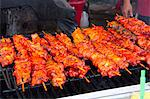 Pork Skewers on a Large Grill Stock Photo - Premium Royalty-Free, Artist: Kevin Dodge, Code: 659-06186676