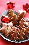 Gingerbread stars and Christmas trees Stock Photo - Premium Royalty-Freenull, Code: 659-06186730