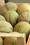 Galia melons in a wooden crate Stock Photo - Premium Royalty-Free, Artist: Gianni Siragusa, Code: 659-06186847