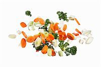 Soup vegetables with parsley Stock Photo - Premium Royalty-Freenull, Code: 659-06187146