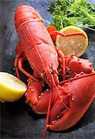 Cooked lobster with lemon Stock Photo - Premium Royalty-Freenull, Code: 659-06187384