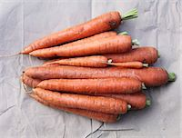 Organic carrots (seen from above) Stock Photo - Premium Royalty-Freenull, Code: 659-06187528