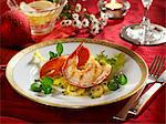 Lobster on a bed of parsley potatoes Stock Photo - Premium Royalty-Freenull, Code: 659-06187657
