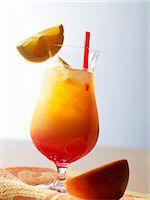 Tequila Sunrise Stock Photo - Premium Royalty-Freenull, Code: 659-06187684