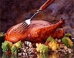 Roast duck on romanesco and wild rice Stock Photo - Premium Royalty-Free, Artist: Michael Mahovlich, Code: 659-06187732