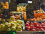 Fruit Display at a Saturday Morning Market, Geneva, Switzerland Stock Photo - Premium Royalty-Free, Artist: Martin Ruegner, Code: 659-06187963