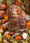 Beef shoulder fillet with herbs on a bed of vegetables Stock Photo - Premium Royalty-Free, Artist: Kathleen Finlay, Code: 659-06188209