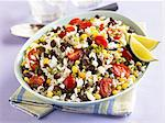 Southwestern Rice Salad with Black Beans, Corn and Tomatoes Stock Photo - Premium Royalty-Freenull, Code: 659-06188218