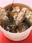 Fresh oysters in a wooden basket Stock Photo - Premium Royalty-Free, Artist: Cultura RM, Code: 659-06188248
