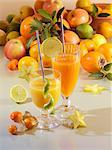 Freshly pressed fruit juice Stock Photo - Premium Royalty-Free, Artist: RW Photographic, Code: 659-06188341