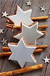 Cinnamon stars and cinnamon sticks Stock Photo - Premium Royalty-Freenull, Code: 659-06188584