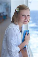 Teenage Girl with Book on Cruise Ship Stock Photo - Premium Rights-Managednull, Code: 700-06190532