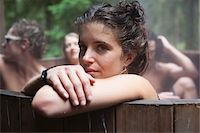 Young Woman in Hot Tub with Friends Stock Photo - Premium Rights-Managednull, Code: 700-06190637
