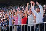 Cheering crowd in stadium Stock Photo - Premium Royalty-Free, Artist: Cultura RM, Code: 635-06191685