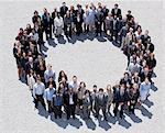 Portrait of smiling business people forming circle Stock Photo - Premium Royalty-Free, Artist: Ikon Images, Code: 635-06191727