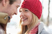 Close up of smiling couple face to face Stock Photo - Premium Royalty-Freenull, Code: 635-06192181